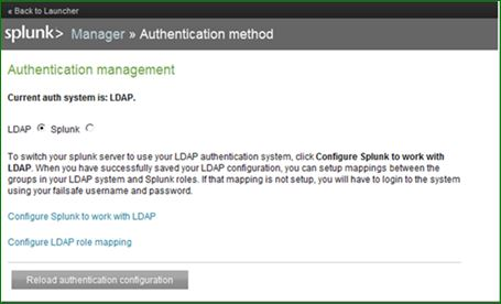 step by step ldap authentication configuration in splunk